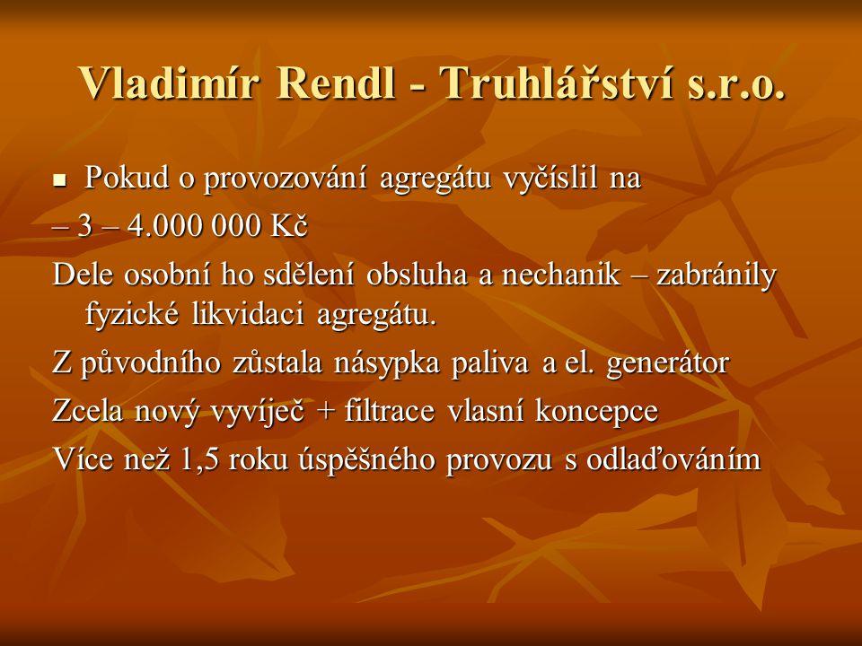 Vladimír Rendl - Truhlářství s.r.o.