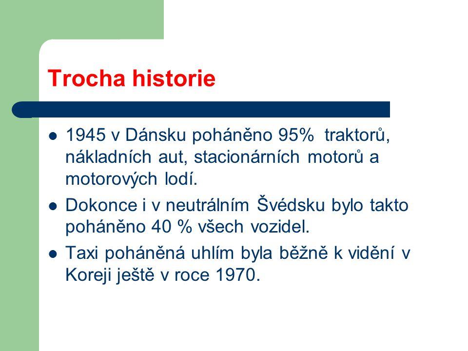 Trocha historie 1945 v Dánsku poháněno 95% traktorů, nákladních aut, stacionárních motorů a motorových lodí.