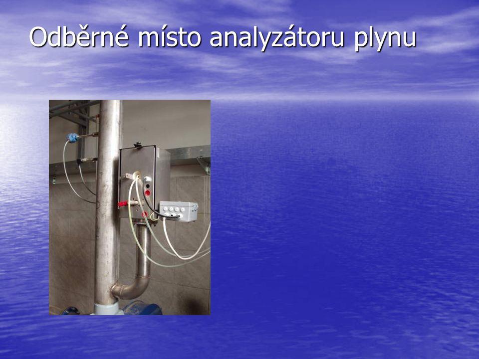 Odběrné místo analyzátoru plynu
