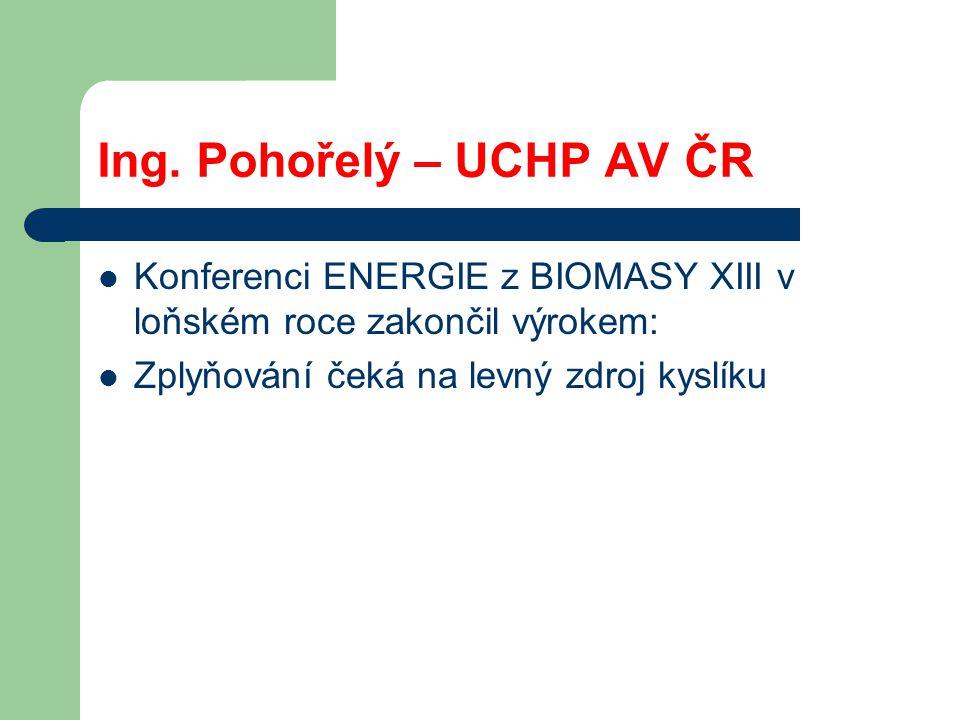 Ing. Pohořelý – UCHP AV ČR