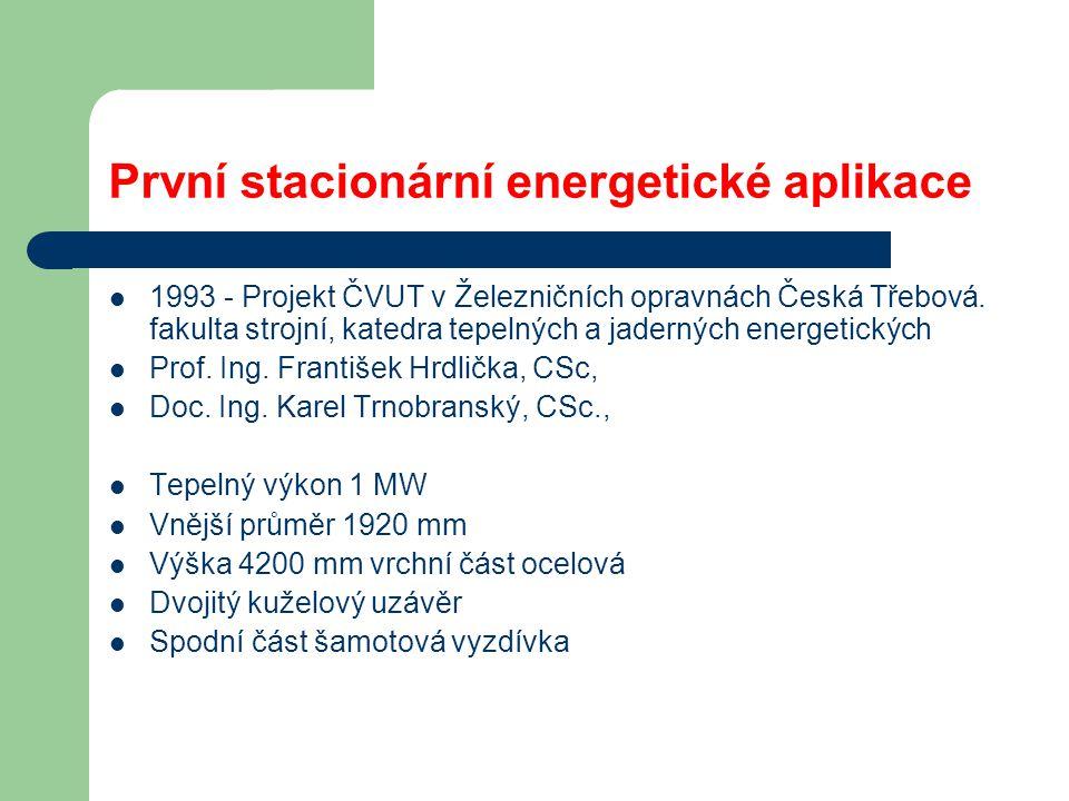 První stacionární energetické aplikace