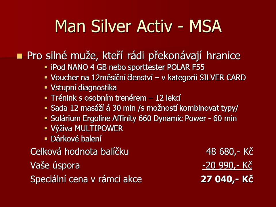 Man Silver Activ - MSA Pro silné muže, kteří rádi překonávají hranice