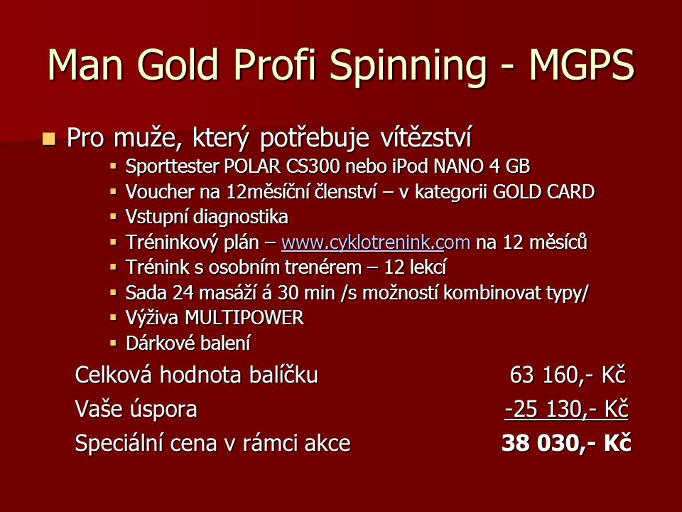 Man Gold Profi Spinning - MGPS