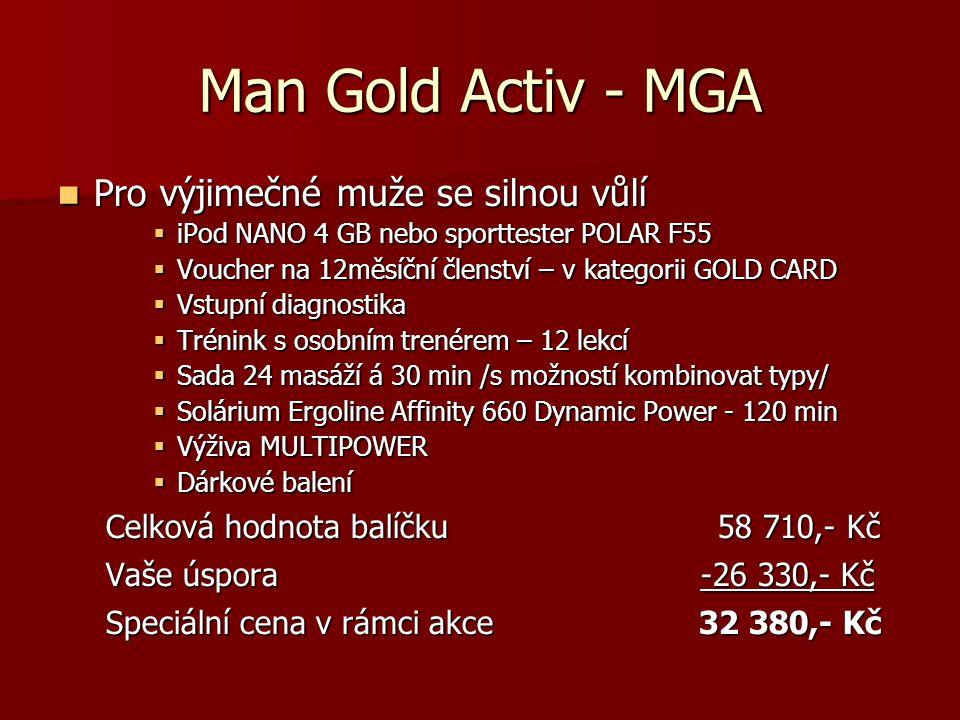 Man Gold Activ - MGA Pro výjimečné muže se silnou vůlí