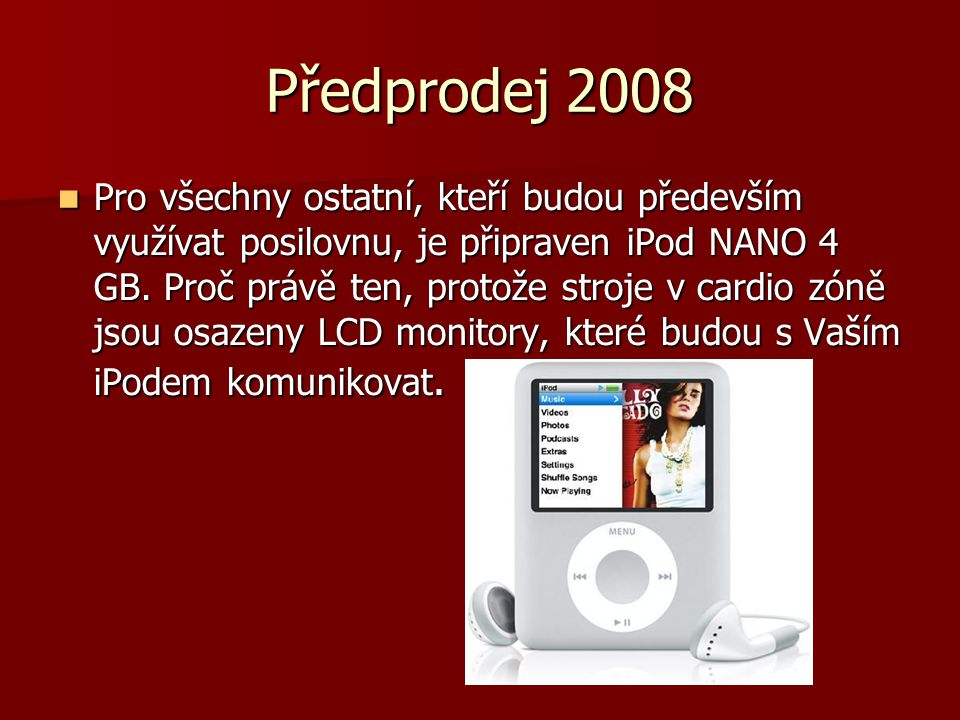 Předprodej 2008