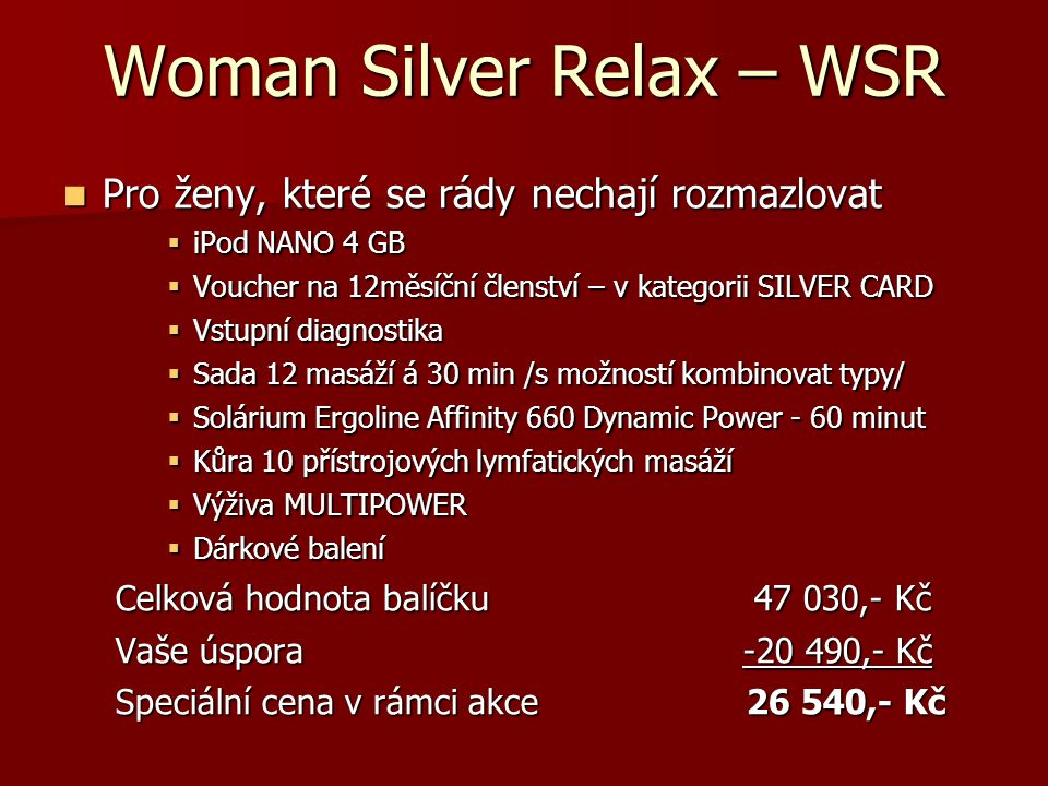 Woman Silver Relax – WSR
