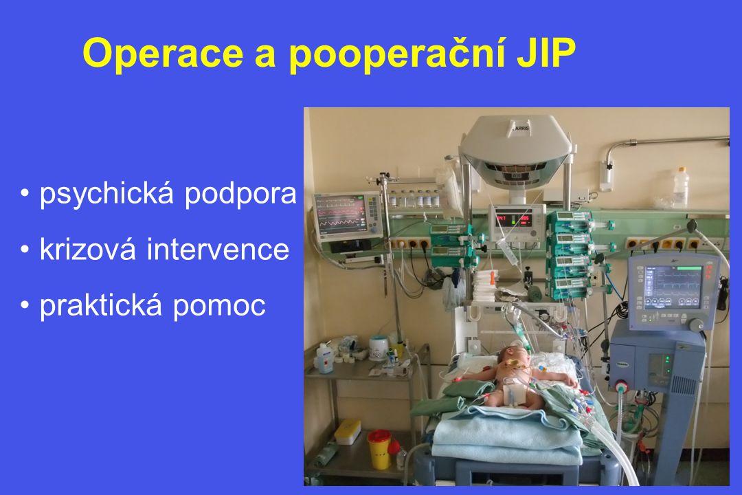 Operace a pooperační JIP