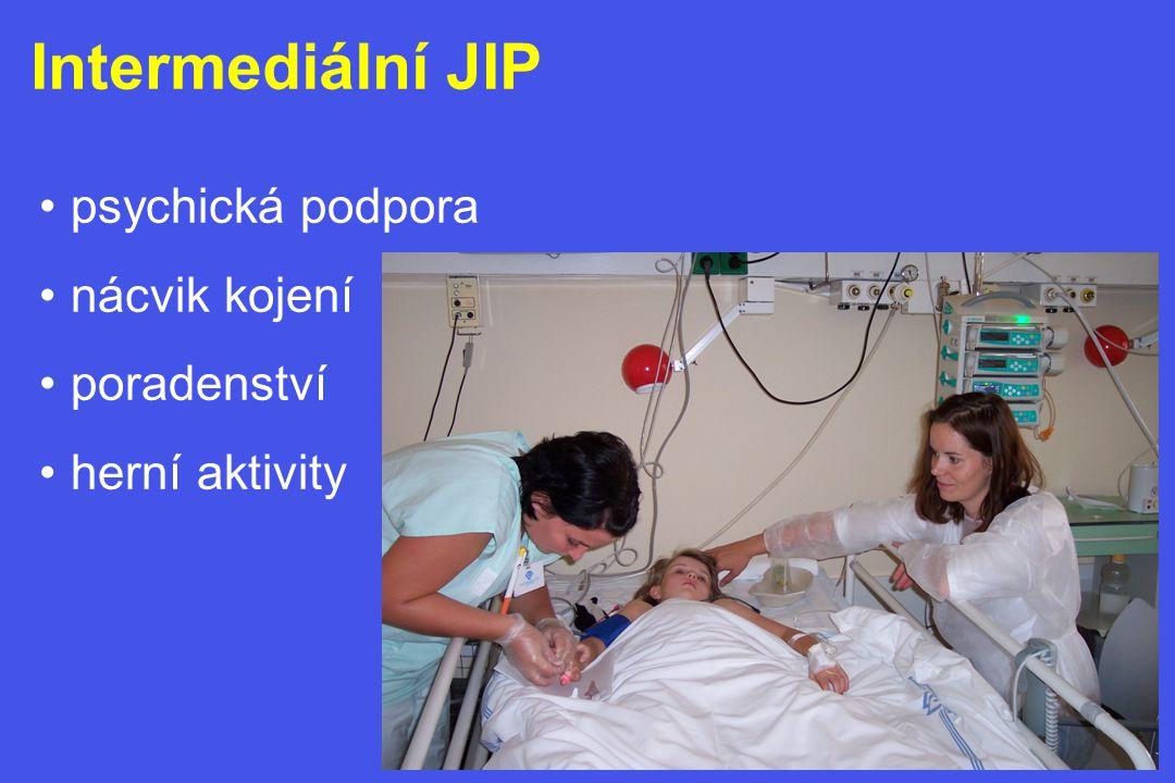 Intermediální JIP psychická podpora nácvik kojení poradenství