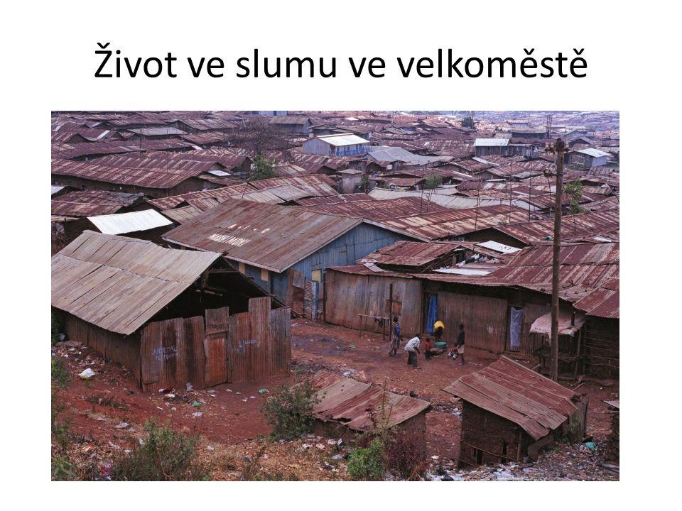 Život ve slumu ve velkoměstě