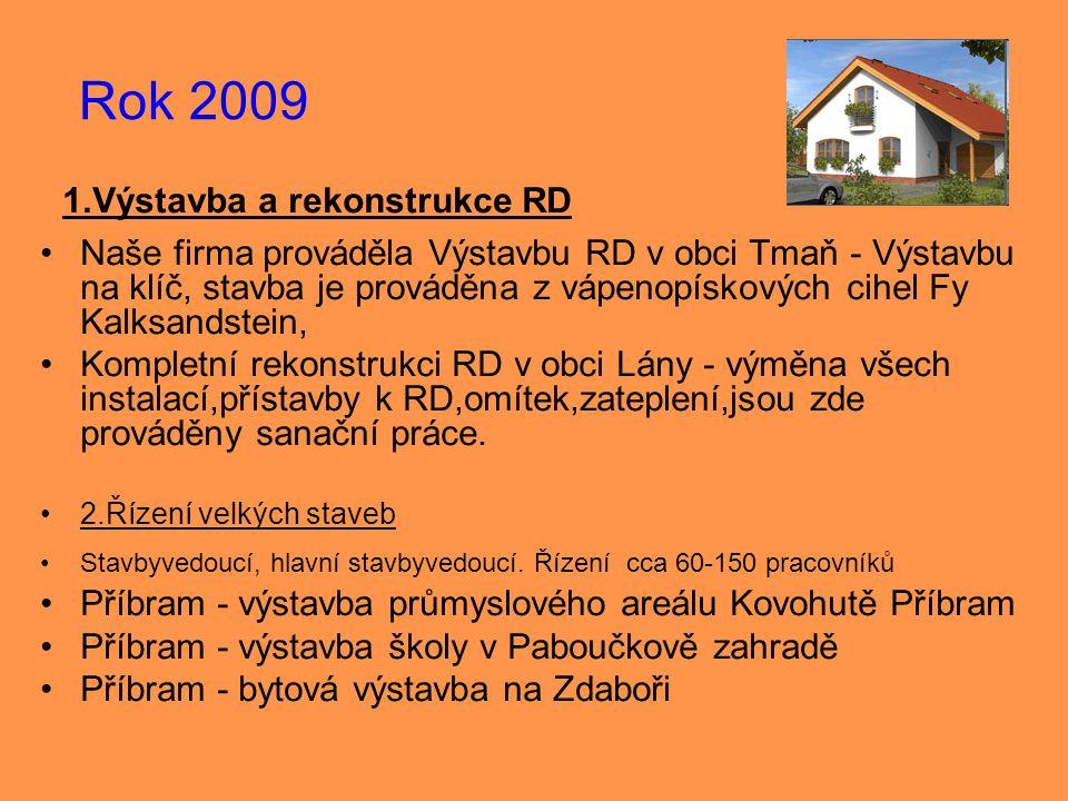 1.Výstavba a rekonstrukce RD