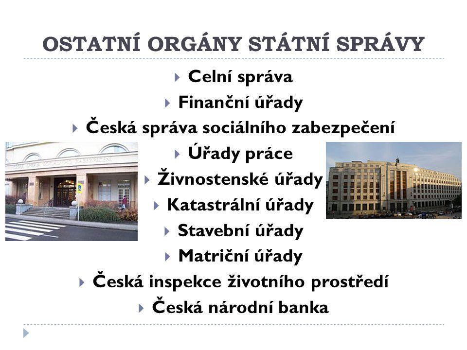 OSTATNÍ ORGÁNY STÁTNÍ SPRÁVY