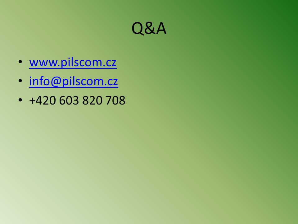 Q&A www.pilscom.cz info@pilscom.cz +420 603 820 708
