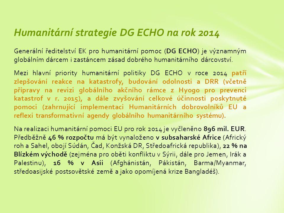Humanitární strategie DG ECHO na rok 2014