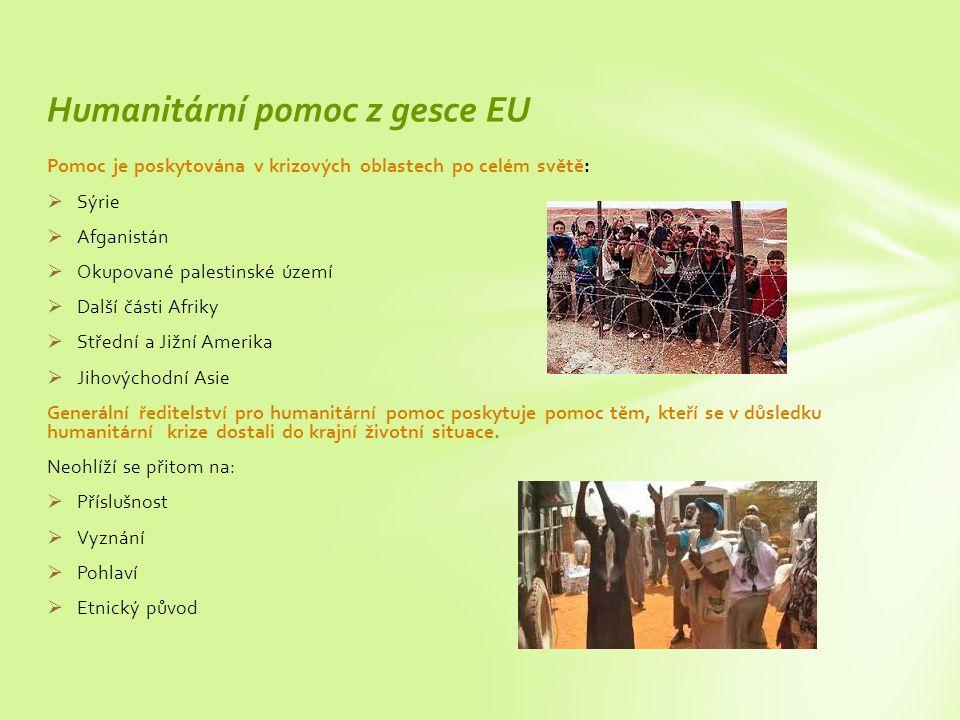 Humanitární pomoc z gesce EU