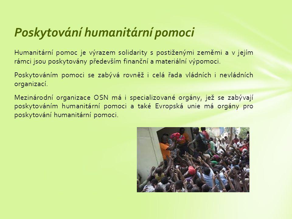 Poskytování humanitární pomoci