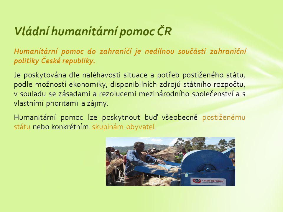 Vládní humanitární pomoc ČR