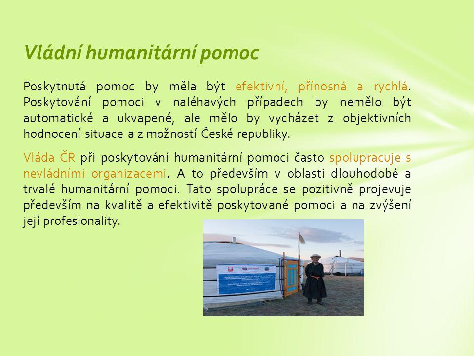 Vládní humanitární pomoc