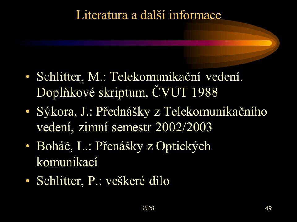 Literatura a další informace