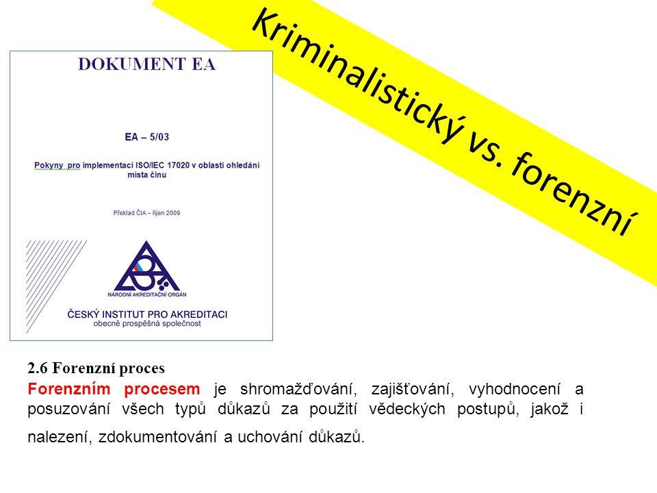 Kriminalistický vs. forenzní