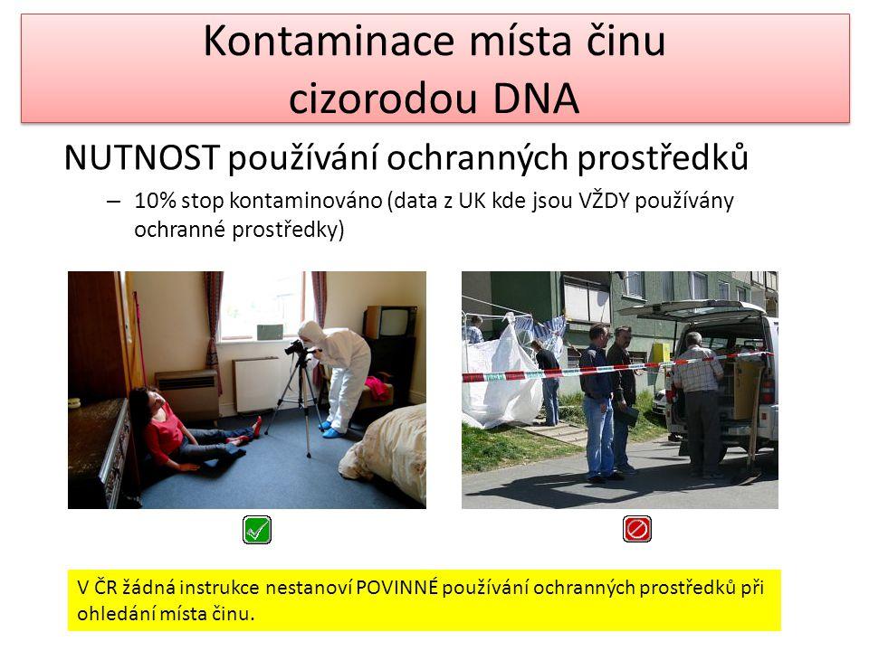 Kontaminace místa činu cizorodou DNA