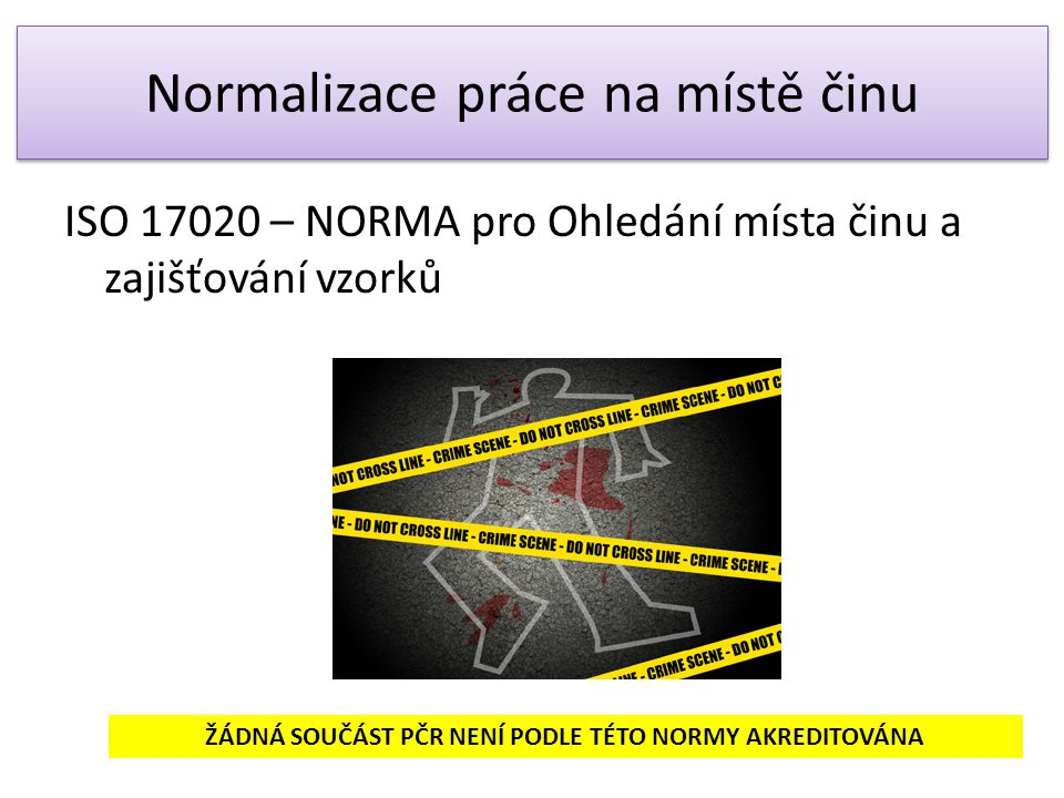 Normalizace práce na místě činu