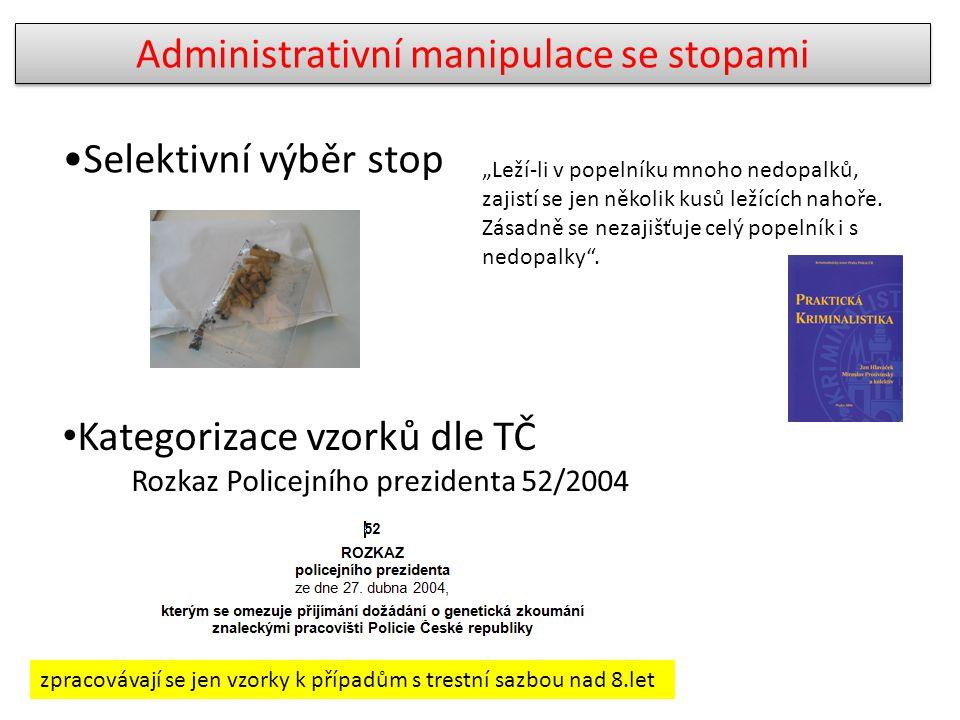 Administrativní manipulace se stopami