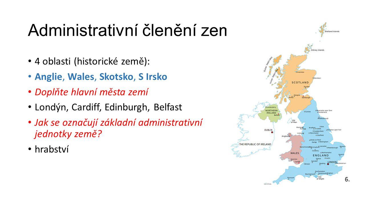 Administrativní členění země