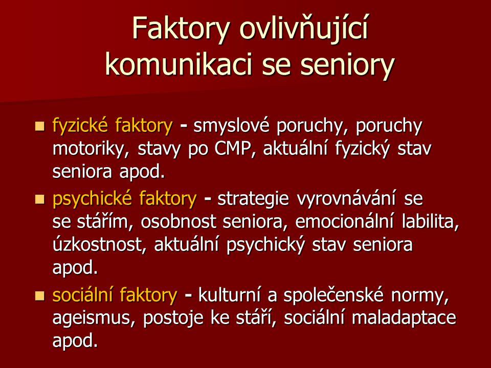 Faktory ovlivňující komunikaci se seniory