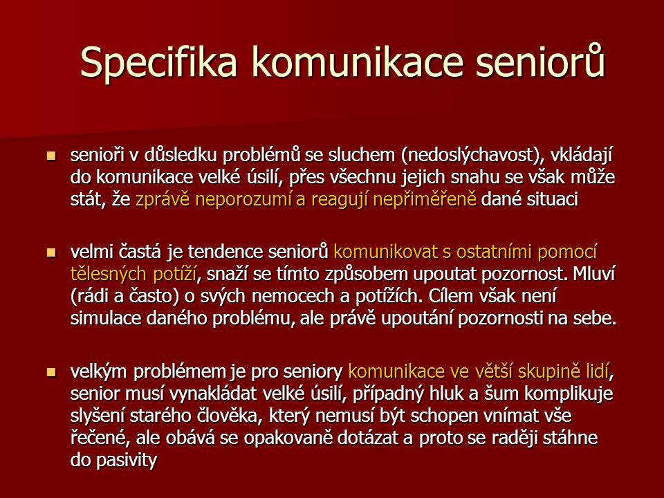 Specifika komunikace seniorů