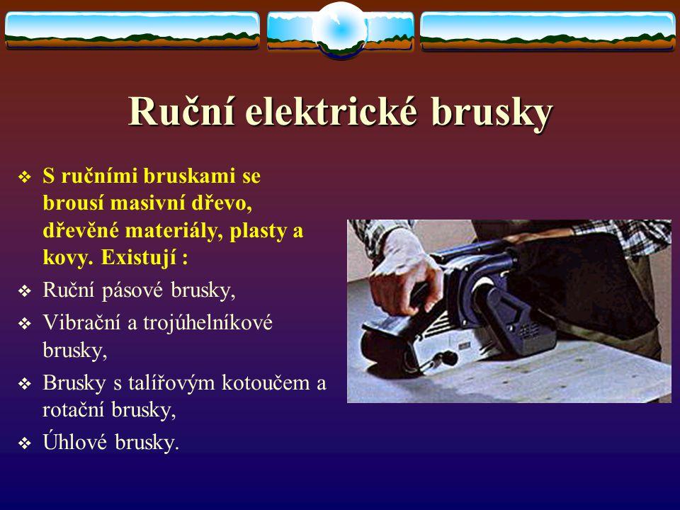 Ruční elektrické brusky