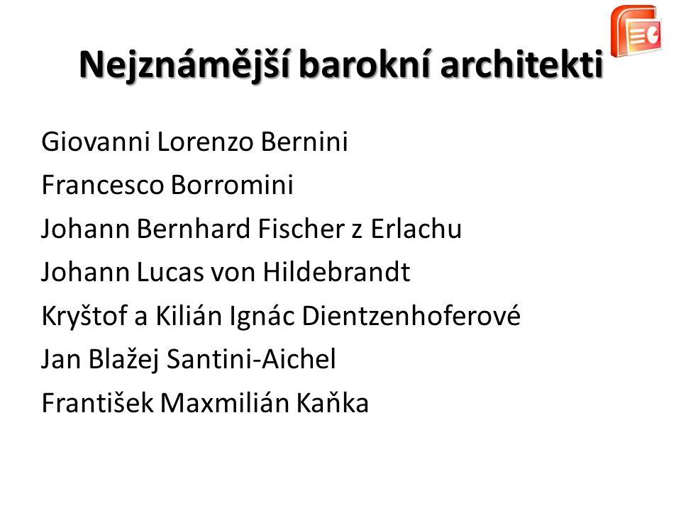 Nejznámější barokní architekti