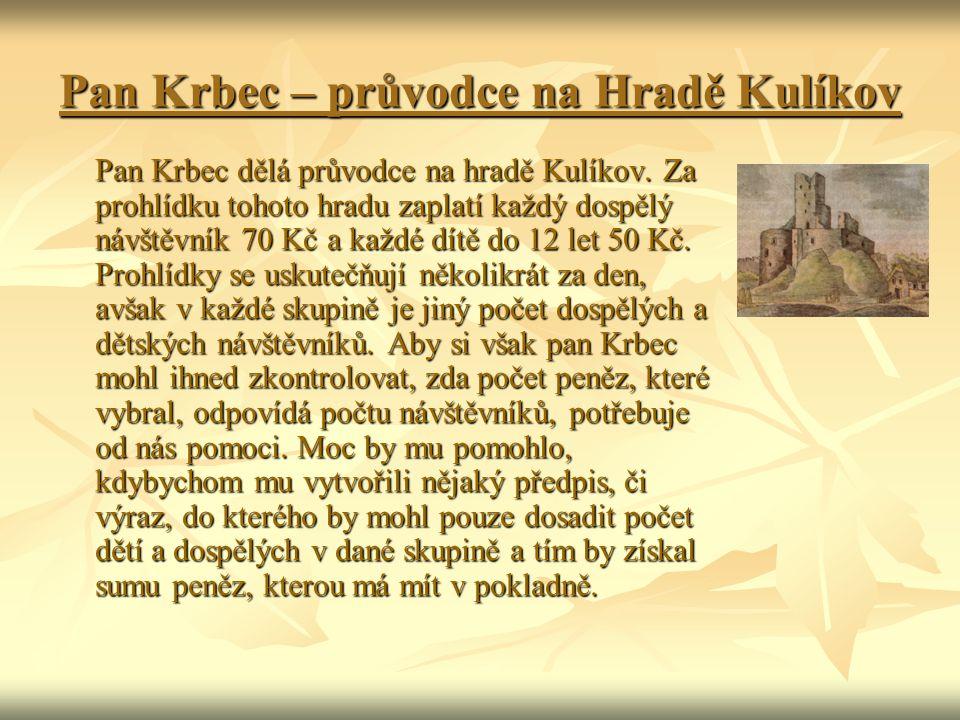 Pan Krbec – průvodce na Hradě Kulíkov