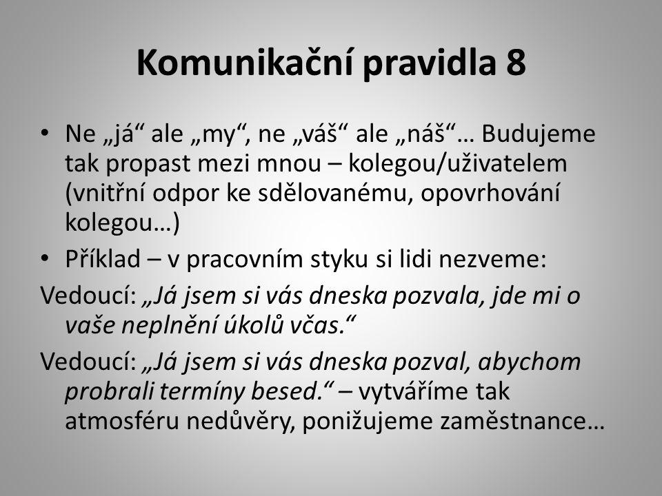 Komunikační pravidla 8