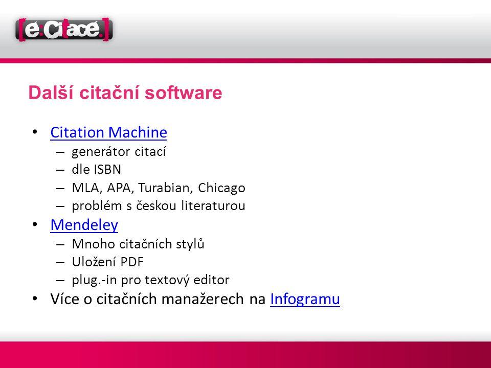 Další citační software