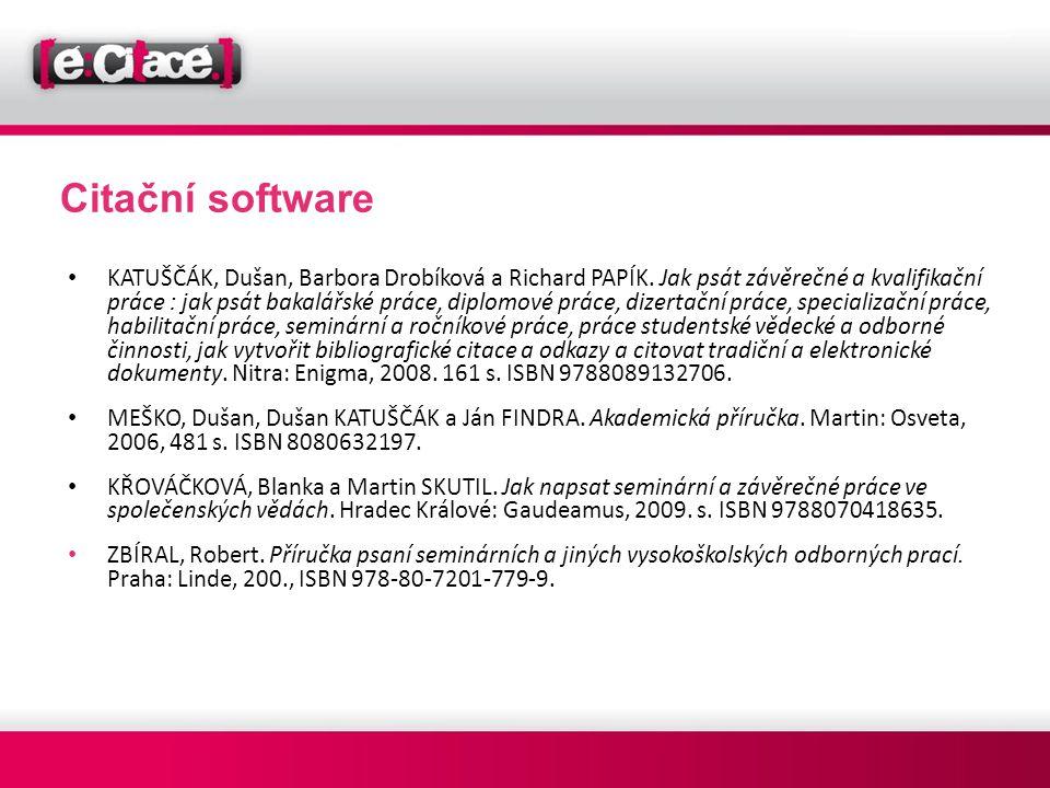 Citační software