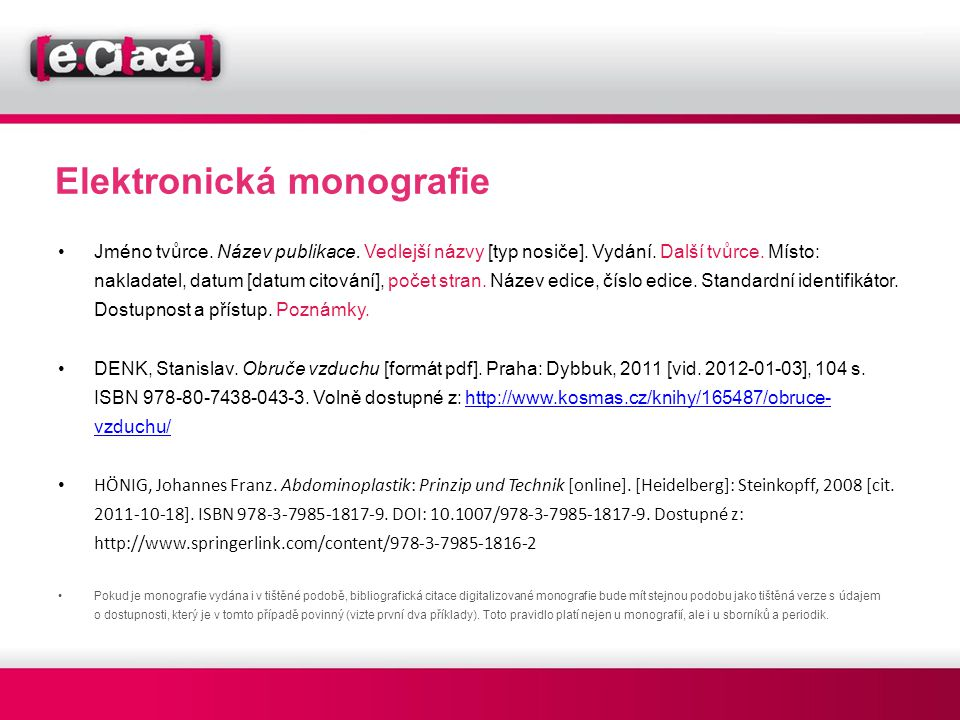 Elektronická monografie