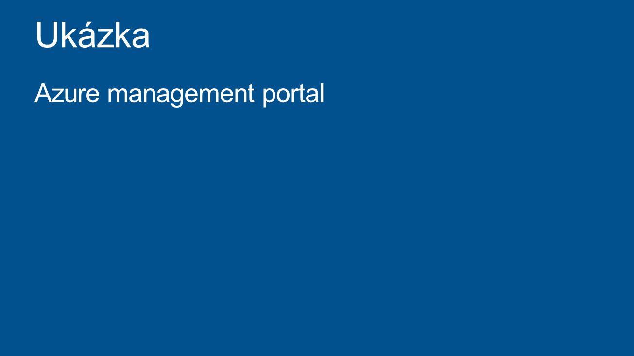 Ukázka Azure management portal