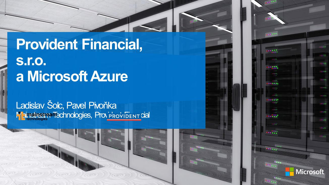 Provident Financial, s.r.o. a Microsoft Azure