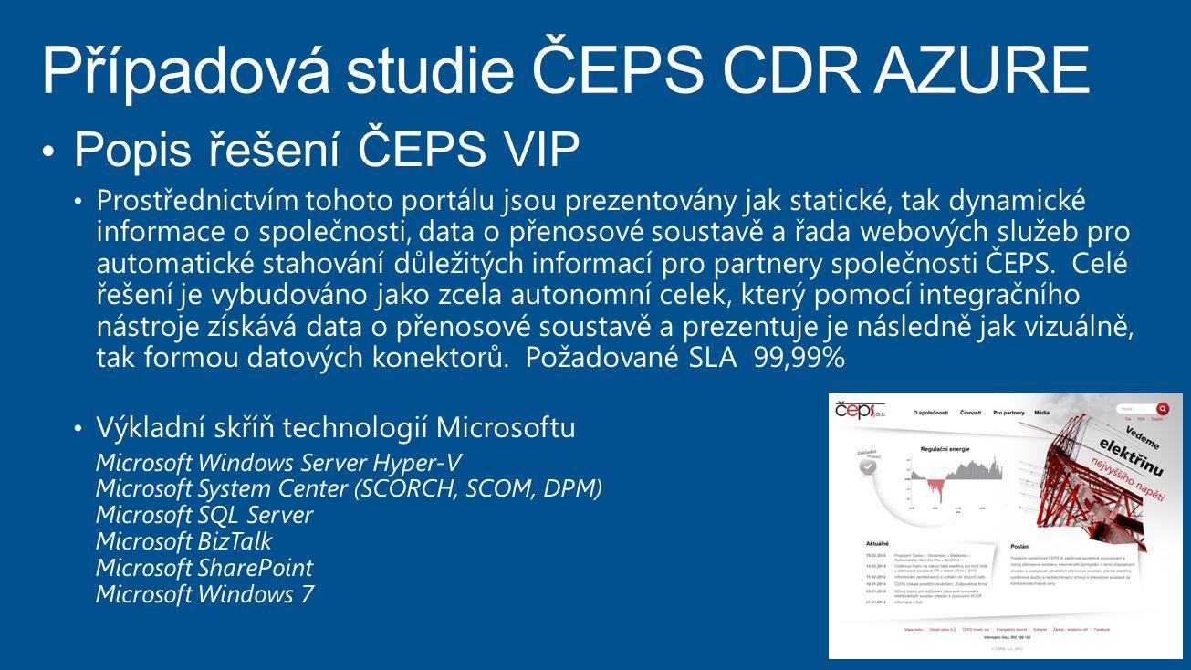 Případová studie ČEPS CDR AZURE