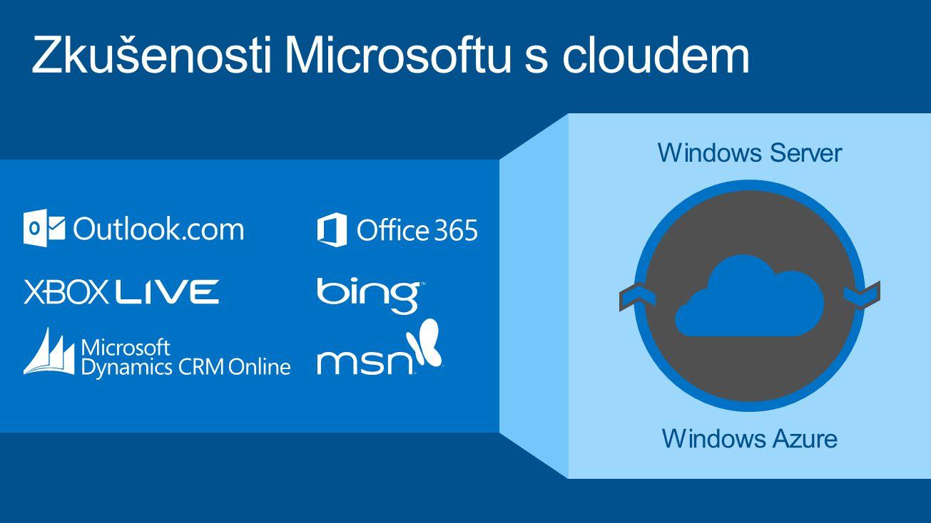Zkušenosti Microsoftu s cloudem