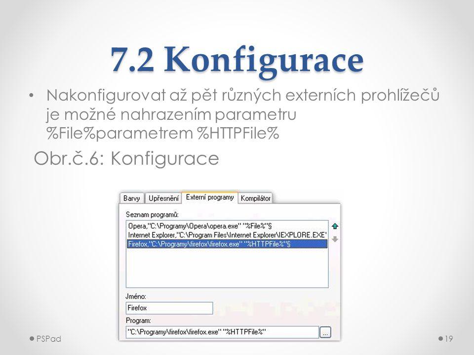 7.2 Konfigurace Obr.č.6: Konfigurace