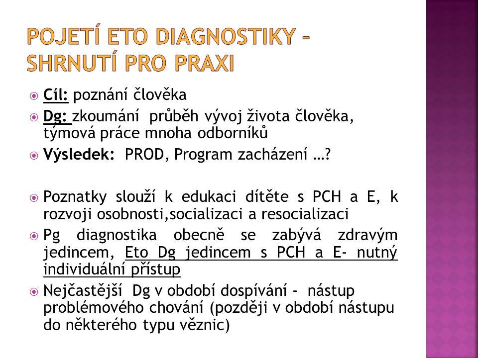 Pojetí ETO Diagnostiky – shrnutí pro praxi
