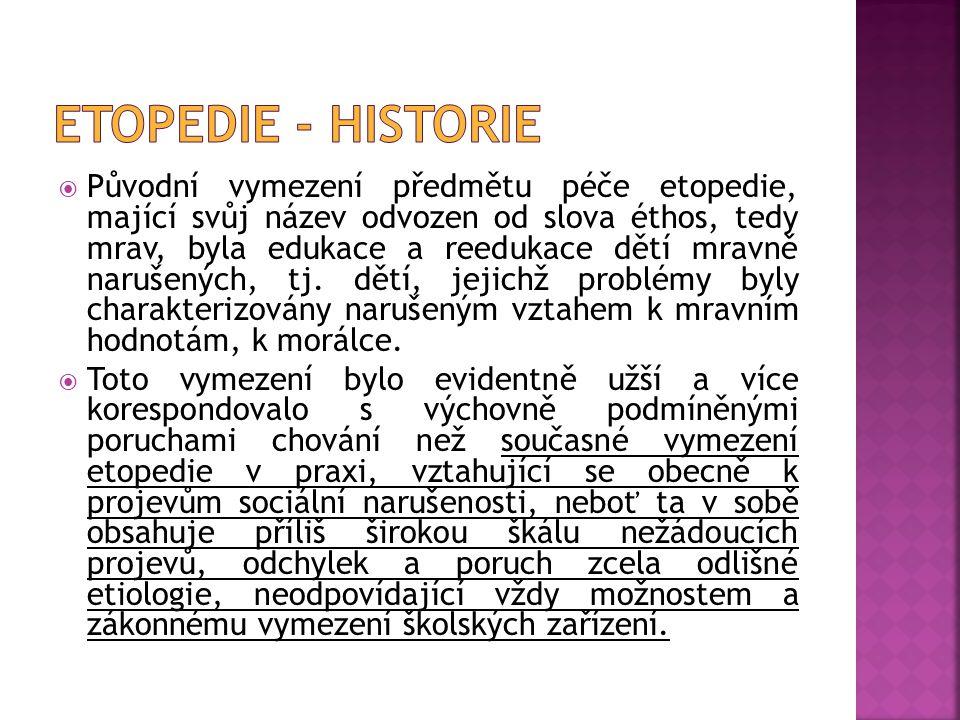 Etopedie - historie