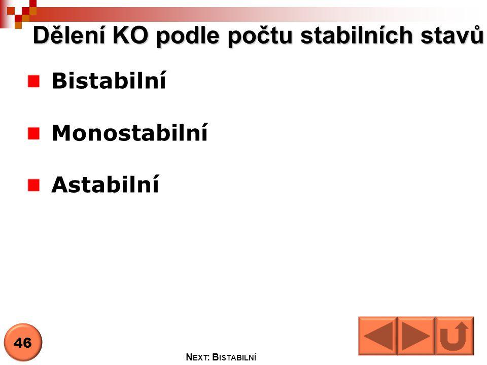 Dělení KO podle počtu stabilních stavů