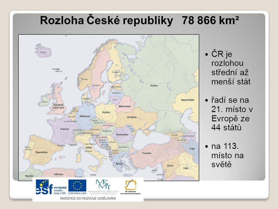 Rozloha České republiky 78 866 km²