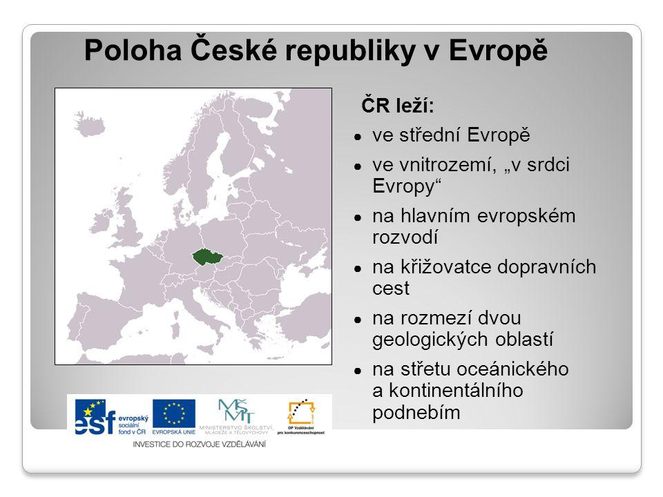 Poloha České republiky v Evropě