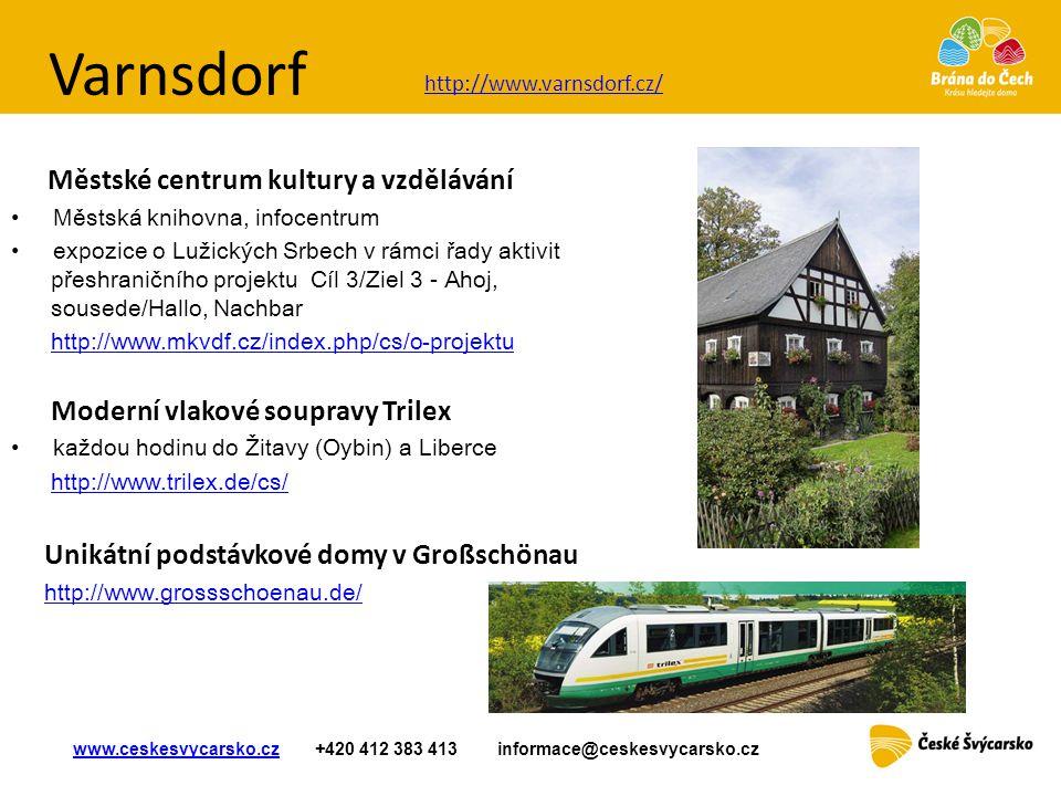 Varnsdorf Moderní vlakové soupravy Trilex