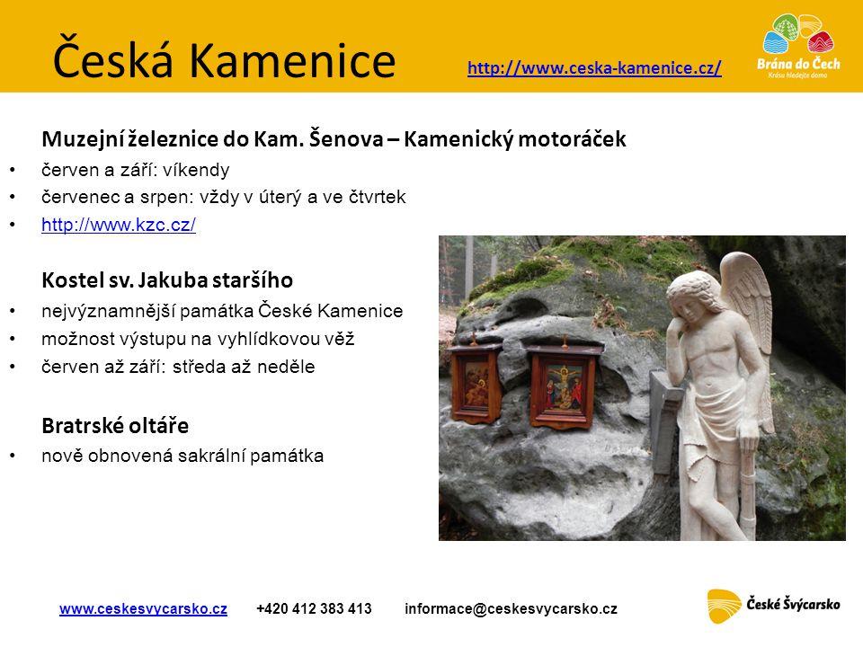 Česká Kamenice Muzejní železnice do Kam. Šenova – Kamenický motoráček
