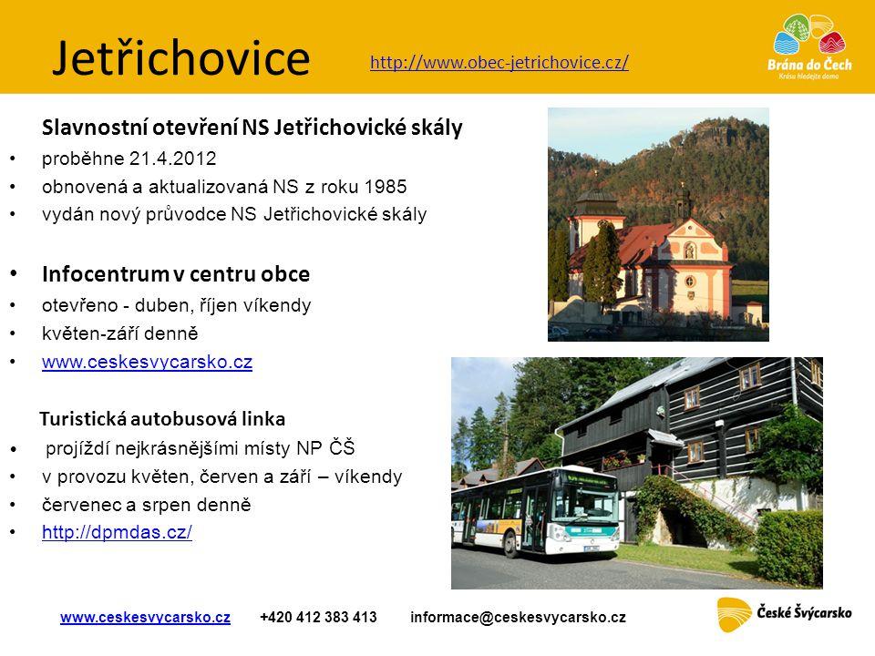 Jetřichovice Slavnostní otevření NS Jetřichovické skály