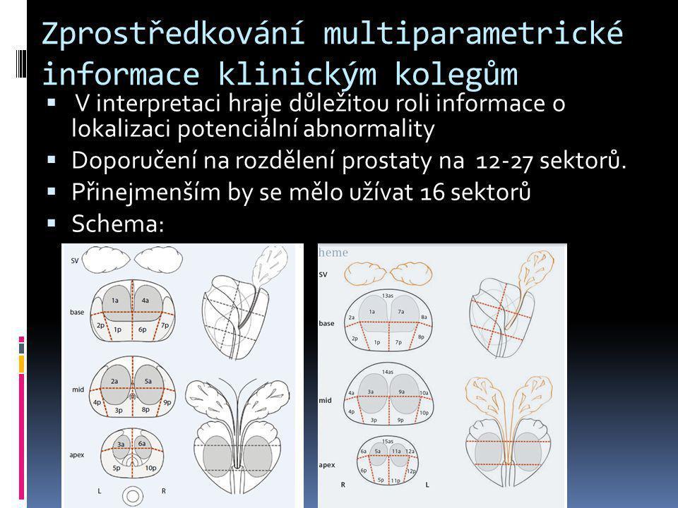 Zprostředkování multiparametrické informace klinickým kolegům